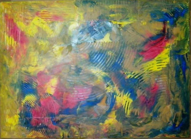 модальный фантазии(Modal Fantasy) Oil on canvas 650X900mm by BobHOK Artist of the style of abstract expressionism from Dhaka Bangladesh