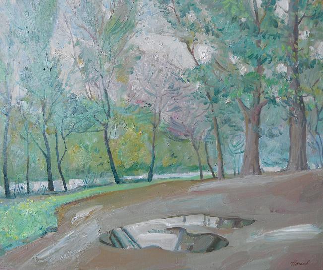 "Живопись ""После дождя"" холст, масло худ. 65 x 80 2009 г"