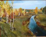 Осень берег река