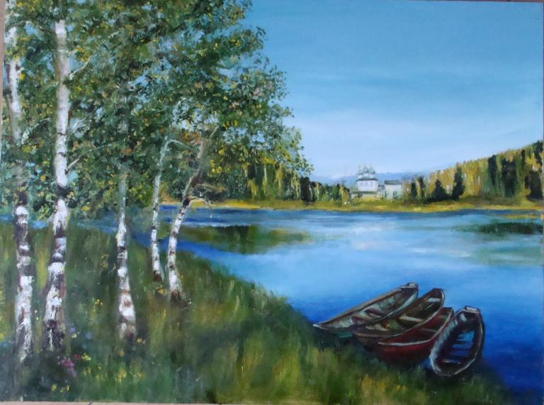 Лето, лодки, река