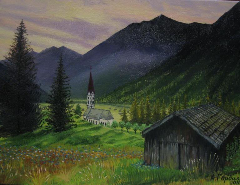 Горы. Альпийский пейзаж