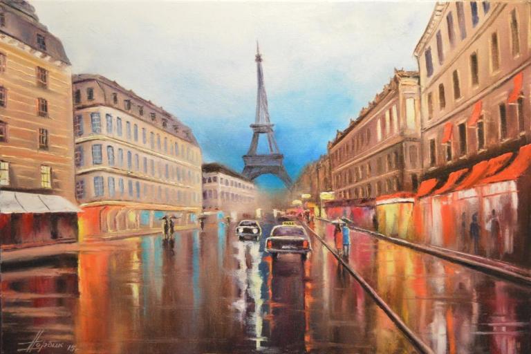 Дождь. Франция. Париж.