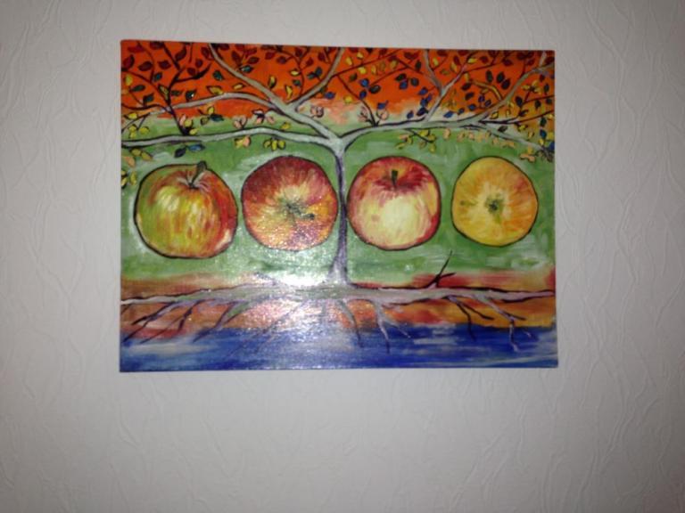 Яблоки лето
