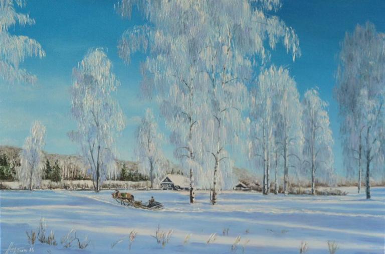Зима. Ямщик