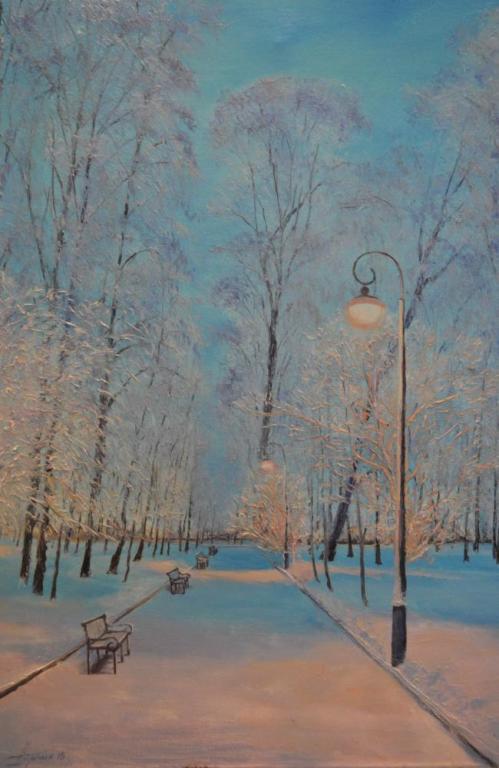Зимний сквер
