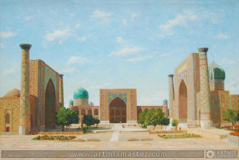 Площадь Регистан (лето)