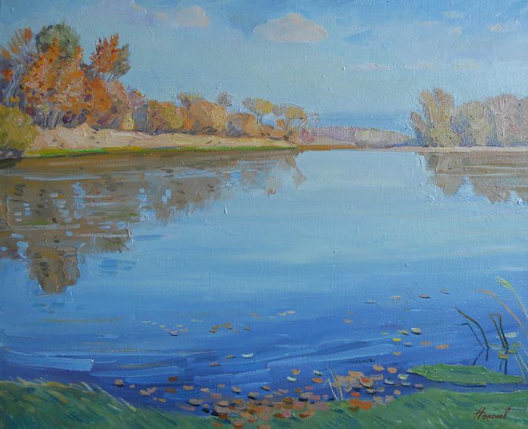 "Живопись ""Осень на реке Северский Донец"" холст, масло  65 x 80 2010 г"