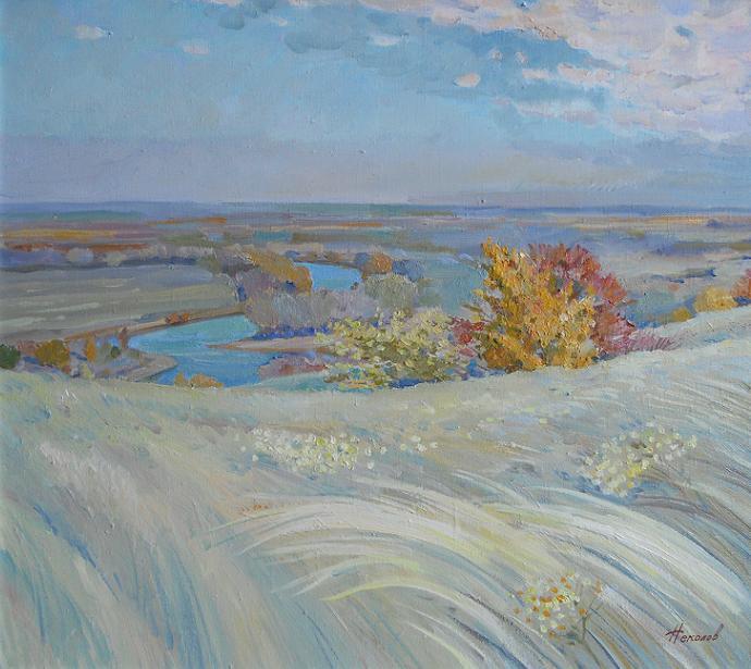 "Живопись ""Осенние дали"" холст, масло 70 x 80 2010 г"