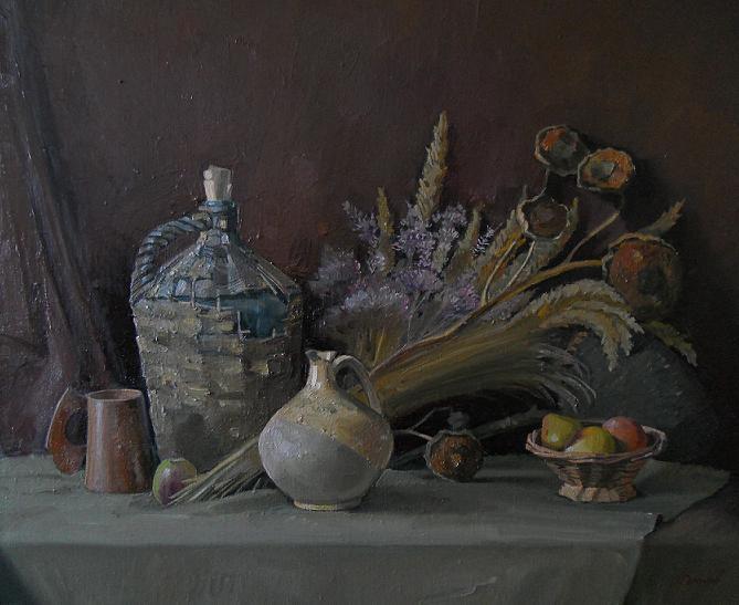 """Живопись """"Осенний натюрморт"""" холст, масло 65 x 92 2006 г"""